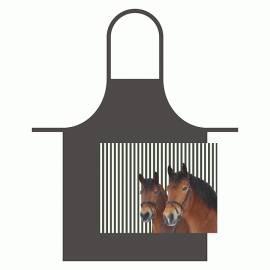 Küchenschürze (Kind) zwei Pferdefreunde