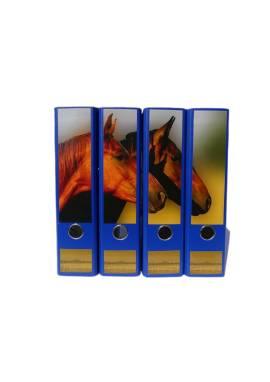 4er-Set Ordner mit Pferdemotiv, verschiedene Farben