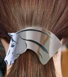 Statement Haarspange Pferdekopf