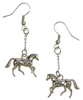 Ohrringe galoppierendes Pferd