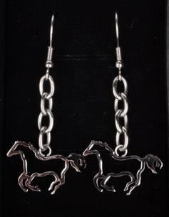 Ohrhänger galoppierendes Pferd
