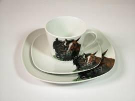 3-teiliges Tee- oder Kaffeegedeck