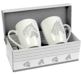 2er Set Tassen Stute mit Fohlen