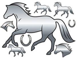 Effektvolle Spiegeltattoos Pferde