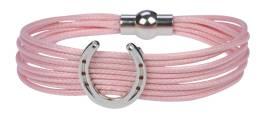 rosa Armband Hufeisen mit Magnetverschluss