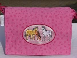 rosa Pferdetraum - Tasche Ponyherde